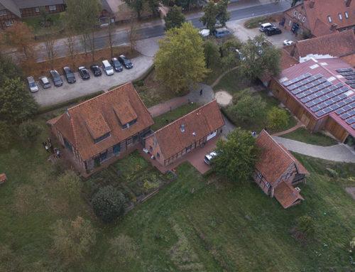 Das Bioland-Hofrestaurant von oben – Drohnenfotos